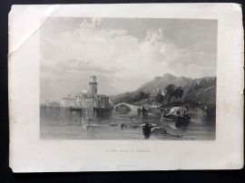 After Stanfield C1860 Antique Art Journal Print. In the Gulf of Venice, Italy